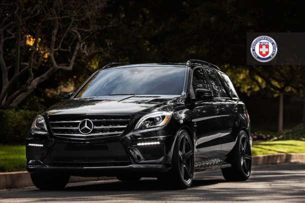 Mercedes ML63 AMG on HRE Wheels (2)
