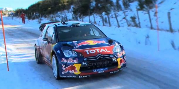 Mikko Hirvonen testing for 2013 Rallye Monte-Carlo