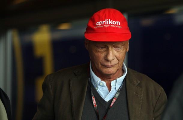 Former Austrian F1 driver Niki Lauda is