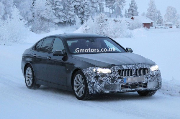 BMW 5-Series Facelift 2014 Spy Photos
