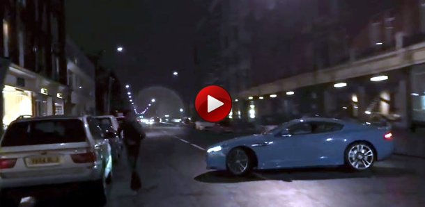 Al-Thani Aston Martin DBS Almost Crashes in London