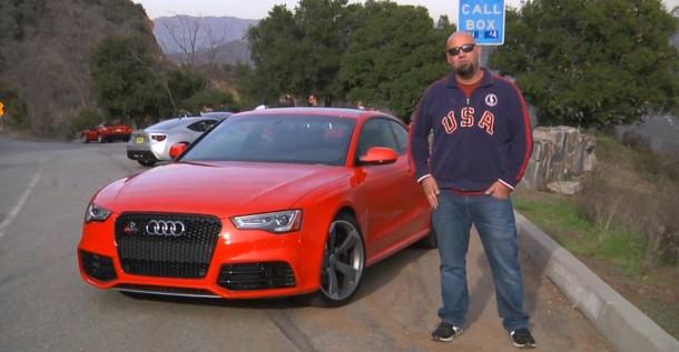 Matt Farah drives Audi RS5 at Mulholland Drive