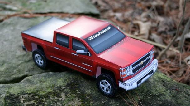 Chevrolet Silverado 2014 - Paper model (4)