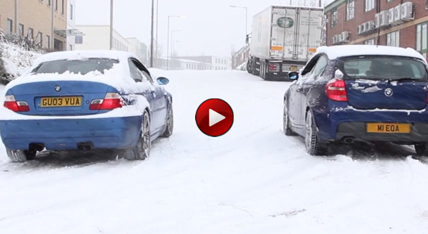 M3 E46 Snow Drag Races