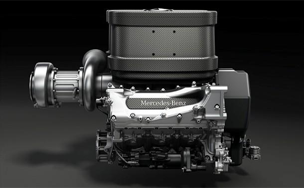 Mercedes Turbo V6 F1 Engine