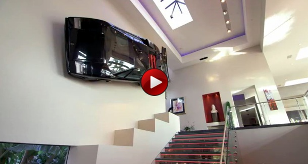 Million Dollar Rooms Newport Beach CA Lamborghini Staircase