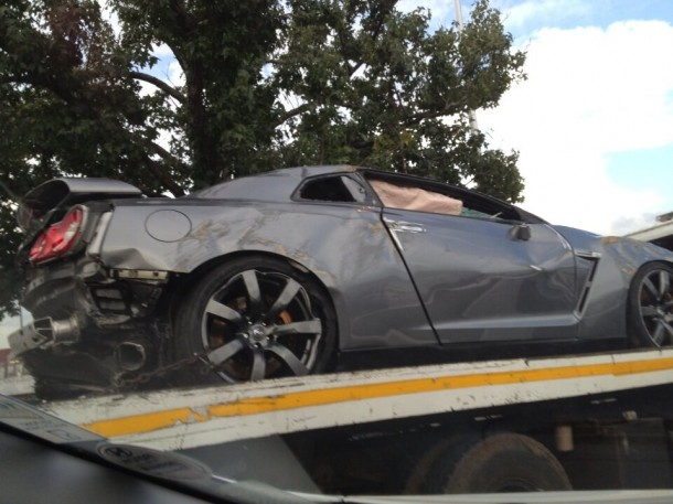 Nissan GT-R Crashed (1)