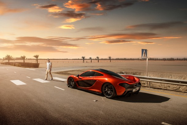 McLaren P1 at Bahrain Circuit