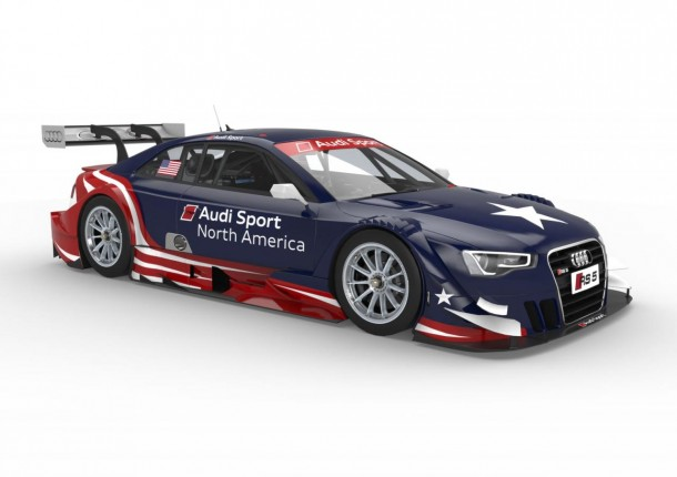 Audi RS5 DTM in USA livery