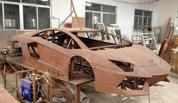 Chinese Steel Lamborghini Aventador Replica (1)
