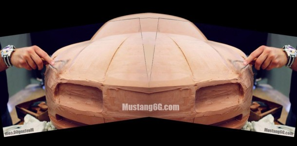 Ford Mustang 2015 clay model