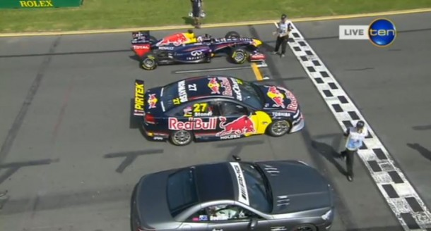 Mercedes AMG Vs. V8 Supercar Vs. Red Bull F1 Car