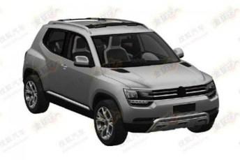 Volkswagen Taigun production version shown in patent sketches