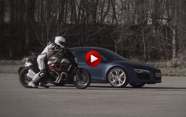 Audi R8 V10 Plus Vs Ducat Diavel