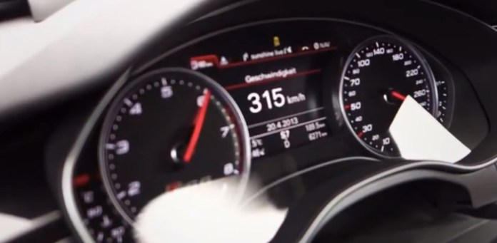 Audi RS6 (2013) from 0 - 315 km:h!