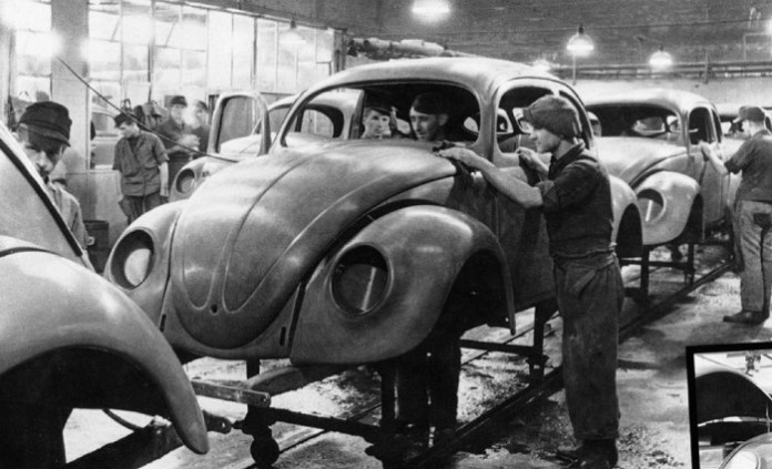 1945 VW Beetle Assembly Line