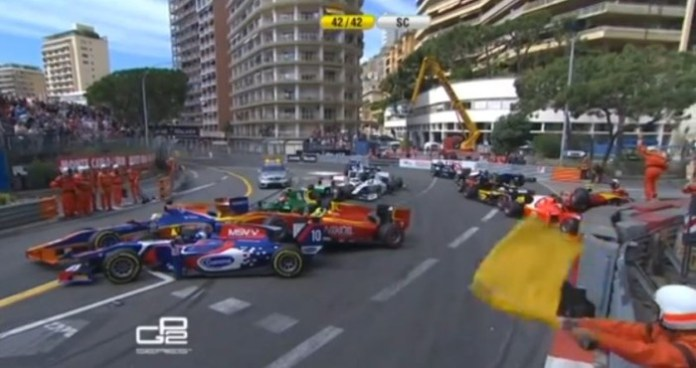 GP2 Monaco 2013 - Race Start Incident