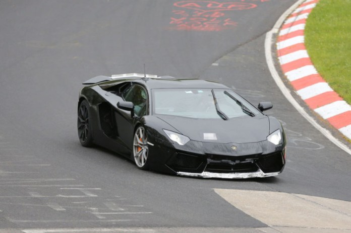 Lamborghini Aventador SV Spy Photos at Nurburgring (4)