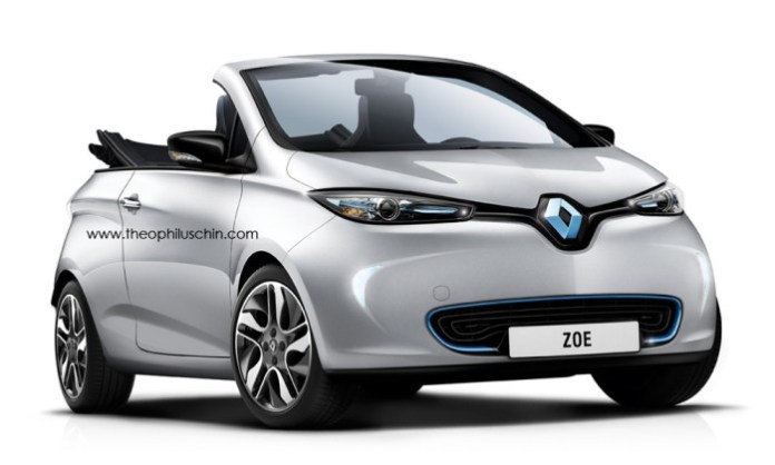 Renault Zoe Cabriolet rendering (1)