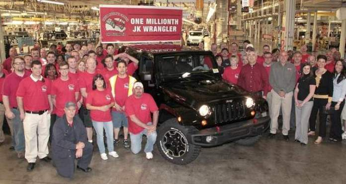 Jeep makes 1 millionth Wrangler at Toledo plant