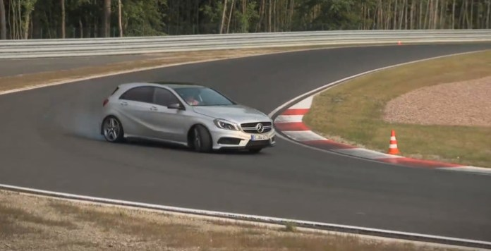 355bhp Mercedes A45 AMG driven flat out