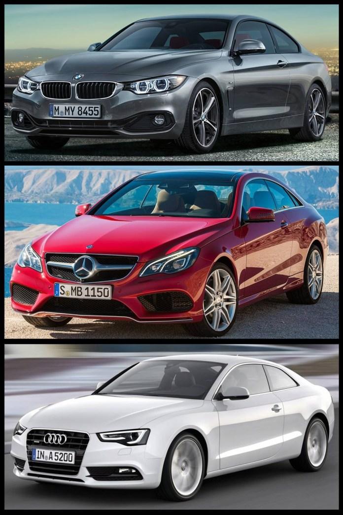 BMW-4er-F32-Bild-Vergleich-Audi-A5-Mercedes-E-Klasse-Coupe-2013-Facelift-2