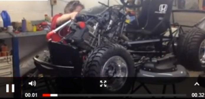 Honda races to build speedy lawnmower for Top Gear team