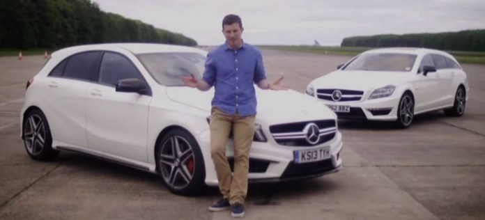Mercedes A45 AMG vs CLS63 AMG Drag Race