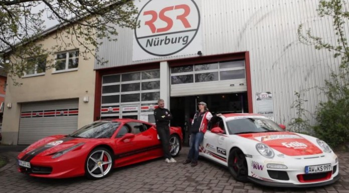 Porsche GT3RS Sabine Schmitz vs Ferrari 458 Italia Ron Simons