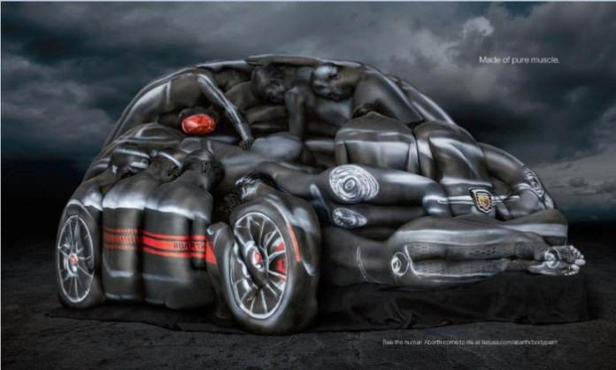 Fiat shows 500 Abarth made from body-painted mode