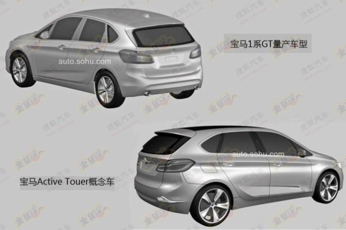 BMW 1-Series GT 2014 patent photos (1)