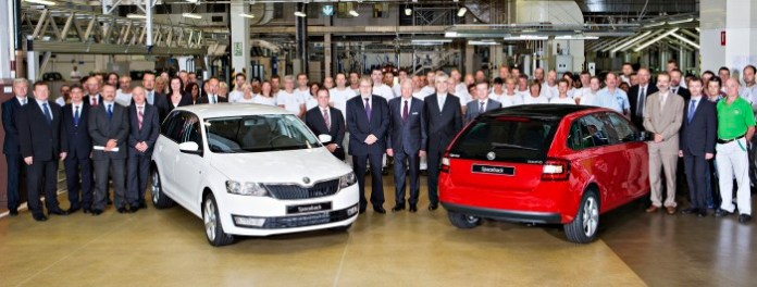 skoda Production starts on the Rapid Spaceback