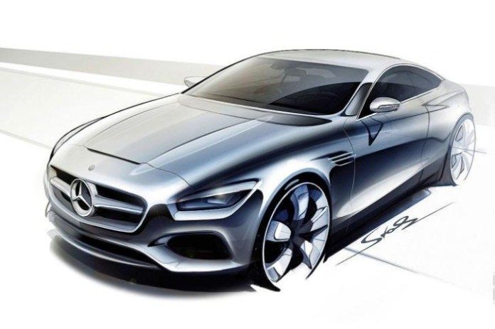 Mercedes S-Class Coupe Sketches (1)