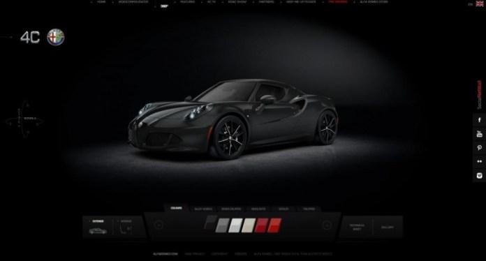 Alfa Romeo 4C online configurator