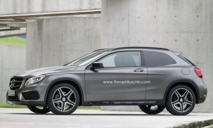 Mercedes-Benz GLA three-door render