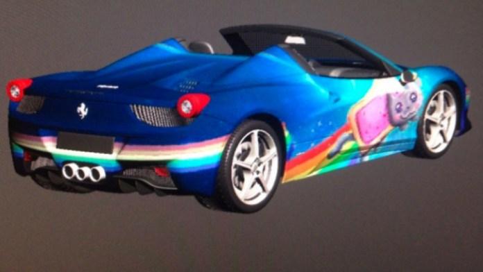 Deadmau5 Ferrari 458 Italia Nyan Cat (2)