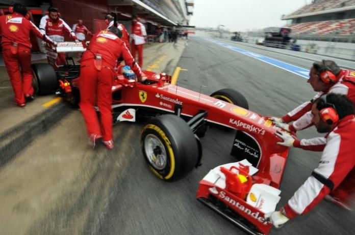 Ferrari's Fernando Alonso Barcelona Testing Day 3 -