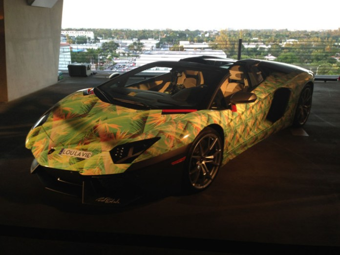Lamborghini Aventador Roadster with Lebron 11 livery