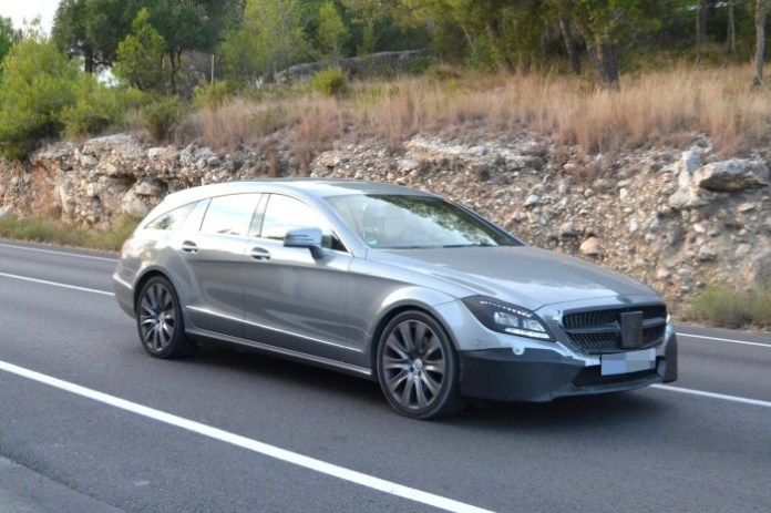Mercedes Benz CLS Shooting Brake facelift Spy Photos (1)