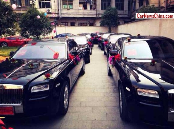 Wedding with supercars on China (1)