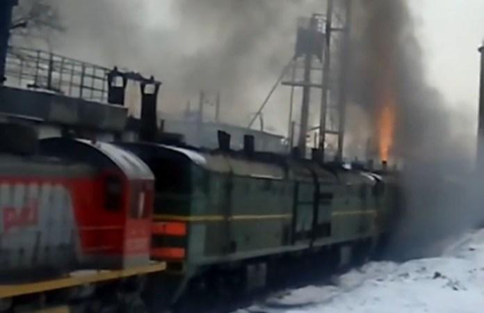 train flames