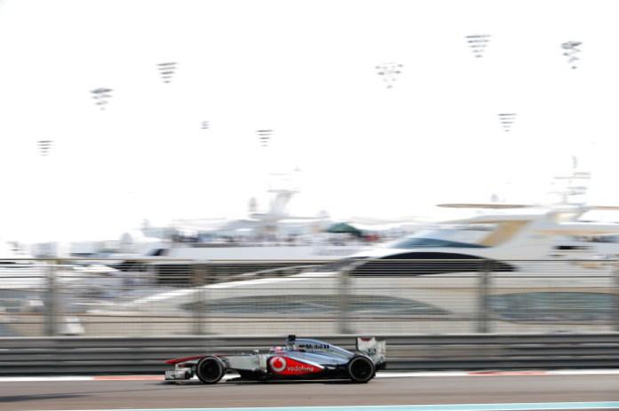 Jenson Button on track