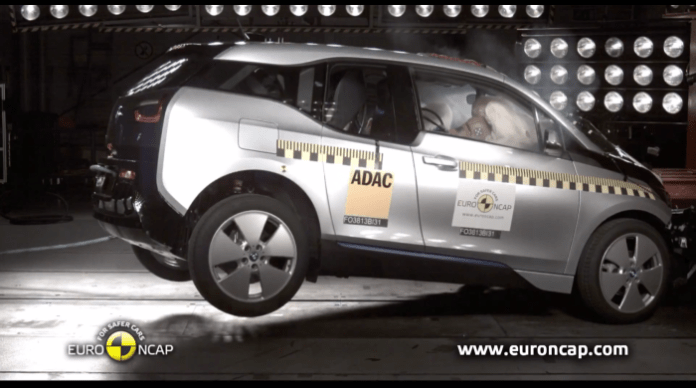 BMW i3 Euro NCAP crash test