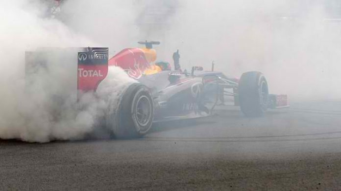 Sebastian Vettel donuts