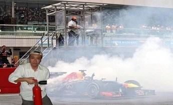 Taki Inoue Vettel Donuts