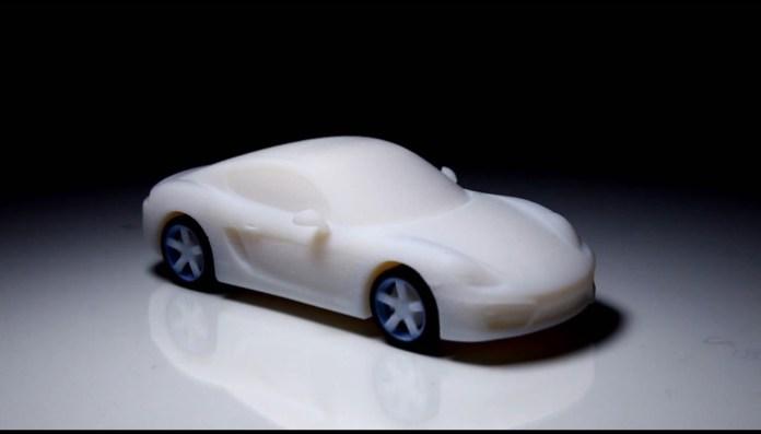 3d printed Porsche Cayman