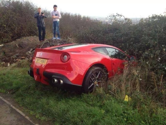 Ferrari F12 crash