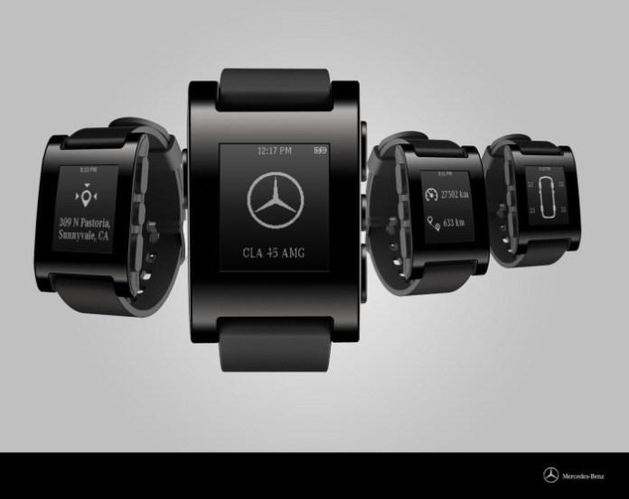 Mercedes-Pebble smartwatch 1