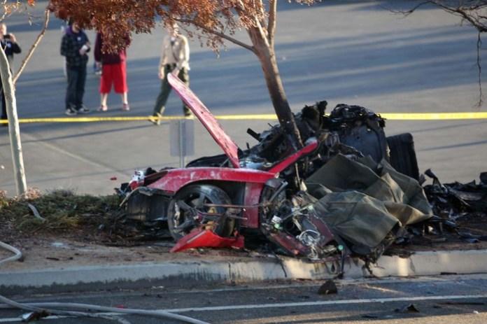 Paul Walker carrera gt crashed