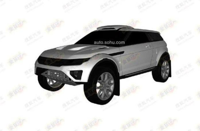Rally-spec Range Rover Evoque patent photo (1)